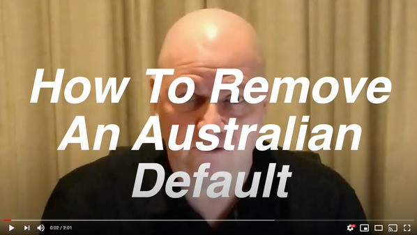 """click to open youtube to watch """"how to remove an australian default"""""""