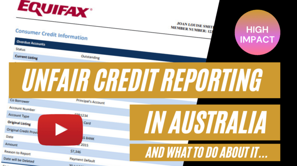 how to beat a broken AU credit reporting system
